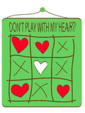 Jogo com seta e coração Ilustração do Vetor
