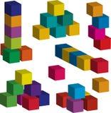 Jogo com tijolos - 1 Fotografia de Stock Royalty Free