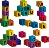 Jogo com tijolos - 2 Imagem de Stock Royalty Free