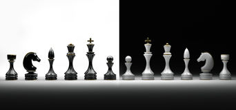 Jogo completo da xadrez Foto de Stock Royalty Free