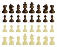 Jogo completo das peças do jogo de xadrez Fotos de Stock Royalty Free