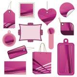 Jogo cor-de-rosa do Tag ilustração stock
