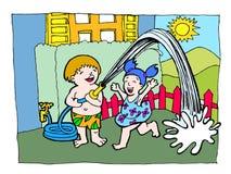 Jogo da água do verão Imagens de Stock Royalty Free