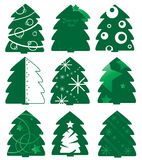 Jogo da árvore de abeto do Natal Imagens de Stock