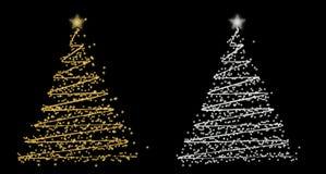 Jogo da árvore de Natal do rwo Imagens de Stock