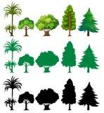 Jogo da árvore diferente ilustração royalty free