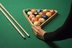 Jogo da associação (bilhar) Foto de Stock