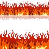 Jogo da bandeira da flama ilustração stock