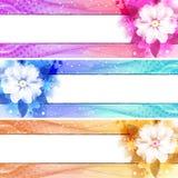 Jogo da bandeira da flor Fotos de Stock Royalty Free