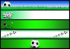 Jogo da bandeira do futebol Fotografia de Stock