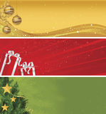 Jogo da bandeira do Natal de três ilustração stock