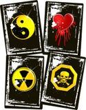 Jogo da bandeira do símbolo do grunge do vetor Imagens de Stock