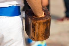 Jogo da bola com o bracelete - Treia Itália Imagens de Stock Royalty Free