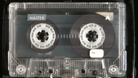 Jogo da cassete áudio vídeos de arquivo