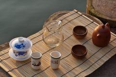 Jogo da cerimónia de chá Fotos de Stock Royalty Free
