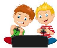 Jogo da competição dos desenhos animados Imagem de Stock