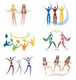 Jogo da comunidade/ícones sociais da rede/esportes ilustração do vetor