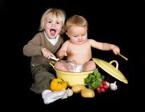 Jogo da cozinha Imagens de Stock
