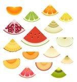 Jogo da cunha da fruta ilustração royalty free