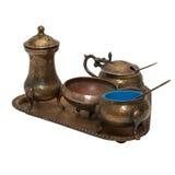 Jogo da cutelaria de bronze velha. Imagem de Stock Royalty Free