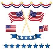 Jogo da decoração da independência dos E.U. ilustração royalty free