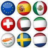 Jogo da esfera da bandeira nacional ilustração do vetor