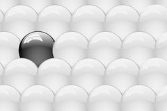 Jogo da esfera lustrosa limpa. Fundo abstrato Imagens de Stock Royalty Free