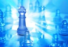 Jogo da estratégia da xadrez Imagem de Stock