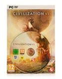 Jogo da estratégia do computador da civilização VI de Sid Meier Imagem de Stock