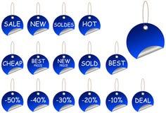 Jogo da etiqueta da venda Imagem de Stock