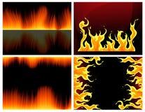 Jogo da flama ilustração stock
