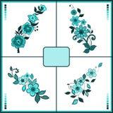 Jogo da flor Vetor eps10 Imagens de Stock Royalty Free