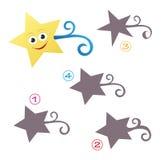 Jogo da forma - a estrela Imagem de Stock Royalty Free