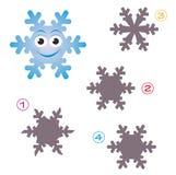 Jogo da forma - o floco de neve Imagem de Stock