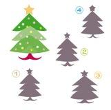 Jogo da forma - a árvore de Natal Fotografia de Stock