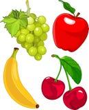 Jogo da fruta dos desenhos animados Imagens de Stock Royalty Free