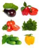 Jogo da fruta vegetal Fotos de Stock Royalty Free