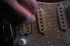 Jogo da guitarra foto de stock