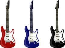 Jogo da guitarra Fotos de Stock Royalty Free