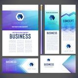 Jogo da identidade corporativa ou jogo do negócio com fundos abstratos Fotos de Stock