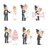 Jogo da ilustração do casamento Fotos de Stock Royalty Free