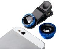 Jogo da lente para a câmera do telefone celular imagens de stock royalty free