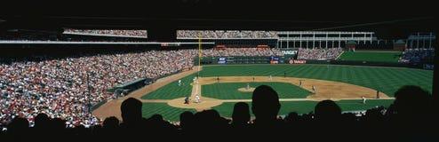 Jogo da Liga Nacional de Basebol no Bal Fotografia de Stock