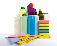 Jogo da limpeza da cozinha Foto de Stock Royalty Free