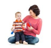 Jogo da mãe e do bebê imagens de stock royalty free