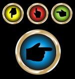 Jogo da mão. Jogo de 4 teclas redondas do vetor Foto de Stock