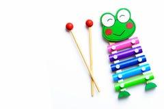 Jogo da música de Xilophone Brinquedo de Xilophone Fotografia de Stock
