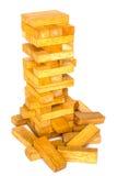 Jogo da madeira dos blocos Imagens de Stock Royalty Free