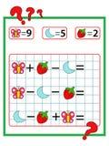 Jogo da matemática Foto de Stock