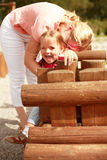 Jogo da matriz e da criança Fotografia de Stock Royalty Free